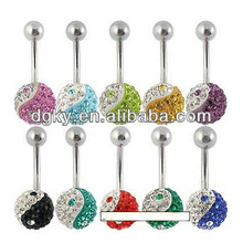 Ying e Yang piercing barriga botão anéis jóias