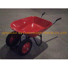 two pneumatic wheels wheelbarrow