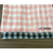 Plaid Tencel Blend Cotton Cotton Dyed Fabric
