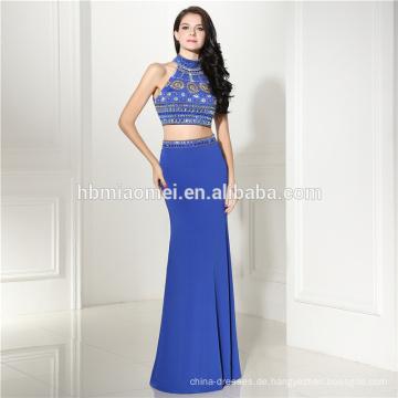 Loyal blau Sleevelss Schatz Meerjungfrau Perlen elegante Abendkleider