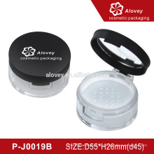 Loose powder bottle empty round cosmetic container