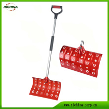 Plastic Snow Pusher Shovel with Hollow Decorative Head