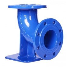 Ductile iron double flanged duckfoot bend-90°