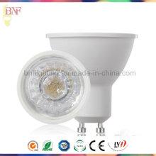 GU10 LED Spotlight COB Thermalplastic para 3W / 5W / 7W com Ce Saso