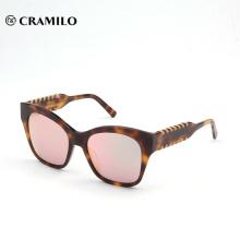 Massenkauf von China-Streifenfarbensommer-Brillersonnenbrillen