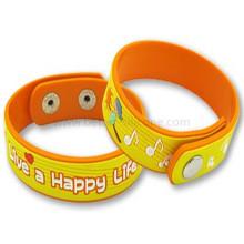 Bracelet fait sur commande de PVC de silicone de cadeaux promotionnels