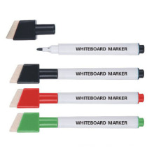 Marcador de quadro branco de plástico com escova