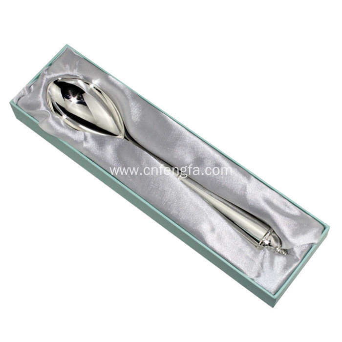 High Quality Eco-friendly Metal Cake Spoon