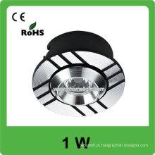 Fábrica de venda directa de alta qualidade 1W luz de teto de alumínio LED
