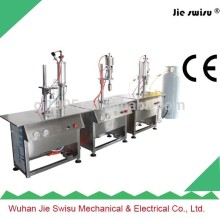 small scale aerosol paint filling machine