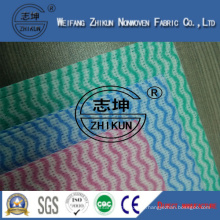 Three Colors Spunlace Nonwoven Fabric for Family Kitchen Cleaning