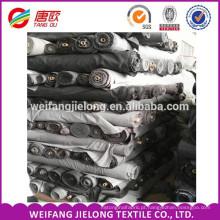 Material de camisas uniformes escolares Twill 45x45 / 133x72 TC sarja 100% algodão