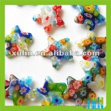 belle forme d'étoile verre millefiori perles