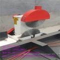 Table de glissement vu Machine de découpe de bois avec double lame circulaire