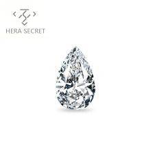 ForeverFlame G H 5ct VVS1 Pear Cut  diamond CVD CZ Moissanite  Angel's tears cz