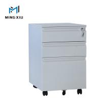Mingxiu Gray Color Office Use 3 Drawer Under Table Filing Metal Storage Mobile Pedestal Cabinet