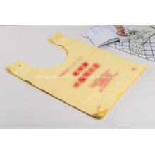 HDPE пластиковая футболка сумка с печатью