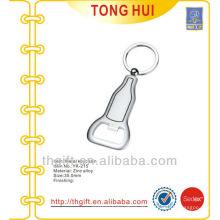 Blank Silber benutzerdefinierte Form Metall Flasche Öffner Schlüsselanhänger