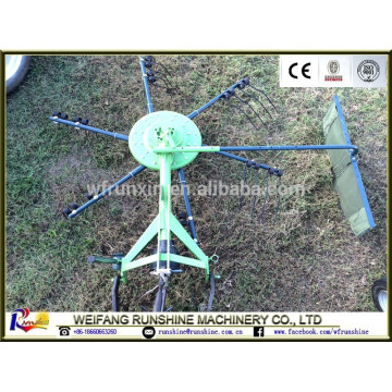 Mini rastrillo de heno rotatorio con certificación ce