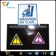 China-Hersteller fluoreszierende reflektierende Wandaufkleber für Wegweiser