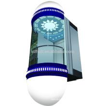 Elevador panorámico / de observación con cabina circular, 1.0m / s, 1000kg, 1500kg