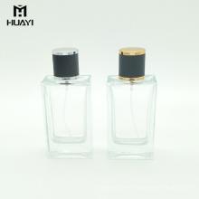 fabricant de porcelaine vide rectangulaire 100 ml bouteille de parfum en verre