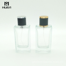 china manufacturer empty rectangular 100ml perfume glass bottle