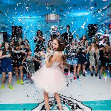 Boda plástica popular / decoración del partido Push-pop Confetti Round / Party cañón