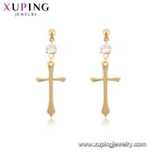 96936 xuping 18k золото цвет кольцо оптовая продажа крест женщины серьги