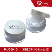 Round empty loose powder container
