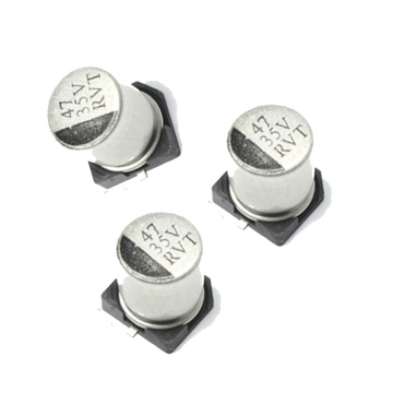 SMD Aluminum Electrolytic Capacitor Available for Auto-Connector