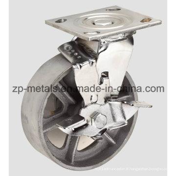 Robuste 4 pouces avec roulette en fonte