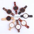 Ручной кварц вишневого дерева часы мини-часы для дам