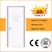 Cartoon Carved Children Room Door