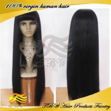 Preço de atacado de seda reta 5A grau muito longo cabelo perucas