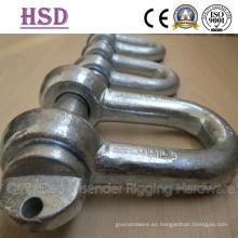 Grillete tipo D, tipo arco, fabricante y exportador profesional, tipo europeo D, grillete tipo D JIS