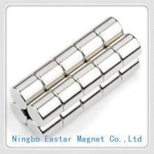 Цилиндр неодимовый магнит с долгой жизни Никель покрытием
