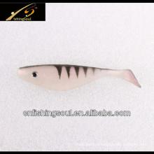 SLL045 мягкого ПВХ Пластиковые рыболовные приманки Шад приманки