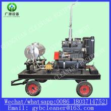 Machine de sablage à l'eau à haute pression de moteur diesel de surface de décapant de coque de bateau
