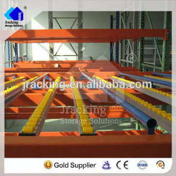 warehouse picking system -- carton flow rack with gravity roller