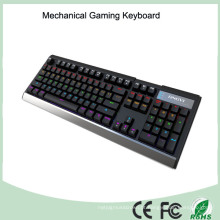 Materiais de alumínio 104 Keys Mechanical Gaming Keyboard