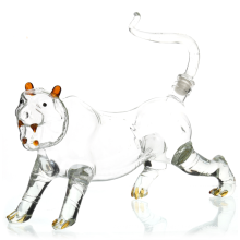 Tiger - shaped  Lead Free Crystal Liquor Decanter with