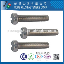 Made in Taiwan DIN84A Slotted Drive Cheese Head M3X6 Zinc Plated Machine Screw