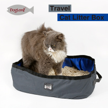 2017Doglemi Portable Outdoor Voyage Cat Litière Boîte Pan Pliable Toilette