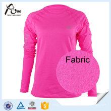 Mesdames respirant Tops Vêtements de fitness personnalisés femmes