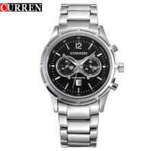 chronograph curren business quartz watch promotional