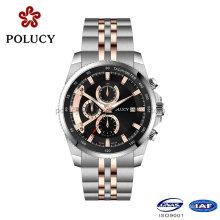 Shenzhen Fabrik benutzerdefinierte Chronograph Uhr Uhren Männer