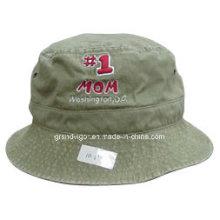 Large Brim algodón cepillado lavado Fisheremant Hat para las mujeres