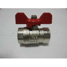nickel plated reducing port brass ball valve with new bonnet butterfly handle light duty 400psi