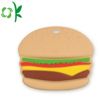 Silicone dentifrício Food-grade Teether Hamburger Teething Toys para o bebê